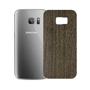 Skin Película Traseira Madeira Escura para Samsung Galaxy S7 Edge - Gorila Shield
