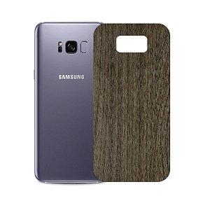 Skin Película Traseira Madeira Escura para Samsung Galaxy S8 Plus - Gorila Shield