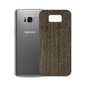 Skin Película Traseira Madeira Escura para Samsung Galaxy S8 - Gorila Shield