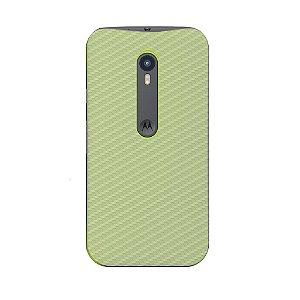 Película Traseira de Fibra de Carbono Transparente para Motorola Moto G3 - Gorila Shield