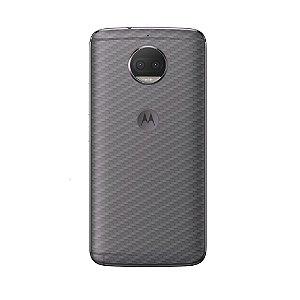 Película Traseira de Fibra de Carbono Transparente para Moto G5S Plus - Gorila Shield