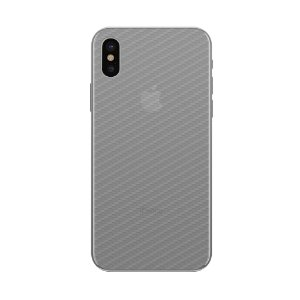 Película Traseira de Fibra de Carbono Transparente para  iPhone X e XS - Gorila Shield