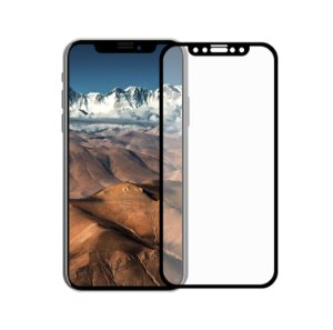Película Coverage Color para iPhone X - Preta - Gorila Shield (Cobre toda tela)