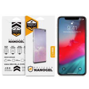 Película Nano Gel Dupla para iPhone X e XS - Gshield (Cobre toda tela)