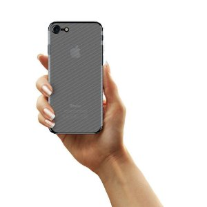 Película Traseira de Fibra de Carbono Transparente para iphone 8 - Gorila Shield