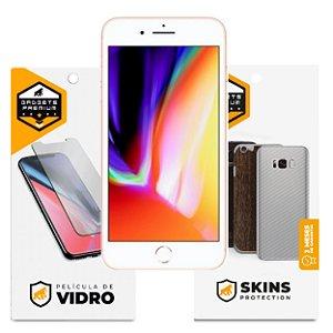 Película de Vidro Dupla + Traseira Fibra de Carbono para iPhone 8 Plus - Gshield