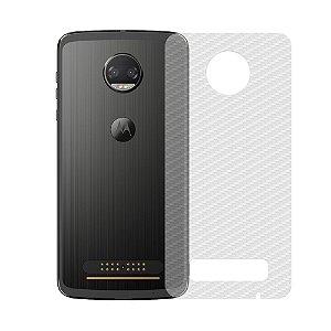 Película Traseira de Fibra de Carbono Transparente para Motorola Moto Z2 Force - Gshield