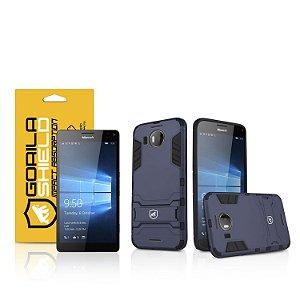 Kit Capa Armor e Película de vidro dupla para Microsoft Lumia 950 XL - Gorila Shield