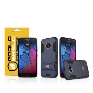 Kit Capa Armor e Película de vidro dupla para Motorola Moto G5S - Gorila Shield