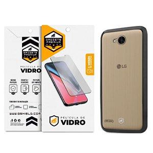 Kit Capa Ultra Slim Air Preta e Película de vidro dupla para LG K10 Power – Gshield