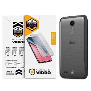 Kit Capa Ultra Slim Air Preta e Película de vidro dupla para LG K10  Pro – Gshield