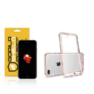 Kit Capa Ultra Slim Air Rosa e Película de vidro dupla para iPhone 7 plus  - Gorila Shield