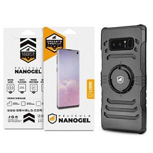 Kit Capa Armband 2 em 1 e Película Nano Gel dupla para Galaxy Note 8 - Gshield (Cobre toda tela)