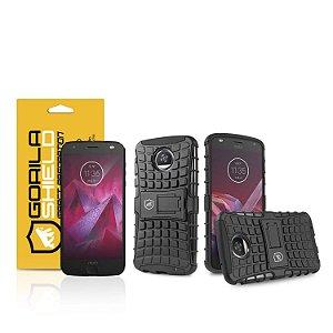 Kit Capa D-Shield e Película de vidro dupla para Motorola Moto Z2 Play - Gorila Shield