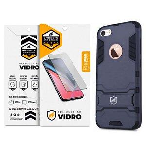 Kit Capa Armor e Película de Vidro Dupla para iPhone 5, 5s, 5c, SE - Gshield