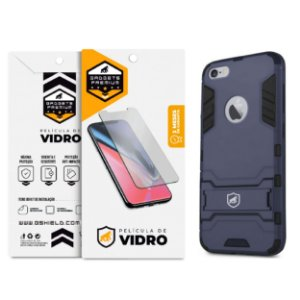 Kit Capa Armor e Película de Vidro Dupla para Iphone 6 e 6s - Gshield