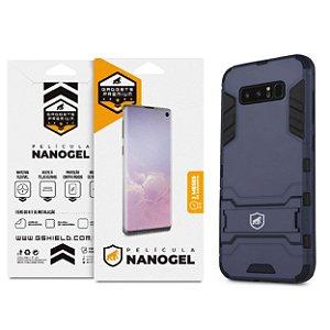 Kit Capa Armor e Película Nano Gel Dupla para Samsung Galaxy Note 8 - Gshield