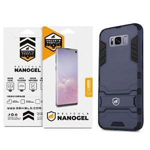 Kit Capa Armor e Película de Nano Gel dupla para Samsung Galaxy S8 - Gshield (Cobre toda tela)