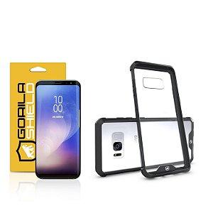 Kit Capa Ultra Slim Air Preta e Película Nano Gel dupla para Samsung Galaxy S8  – Gorila Shield