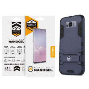Kit Capa Armor e Película de Nano Gel dupla para Samsung Galaxy S8 Plus - Gshield (Cobre toda tela)