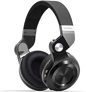 Headphone Bluedio T2+ Plus Turbine Bluetooth Com Fm e Slot Cartão Sd - Bluetooth - Bluedio