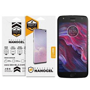 Película Nano Gel Dupla para Motorola Moto X4 - Gshield (Cobre toda a tela)