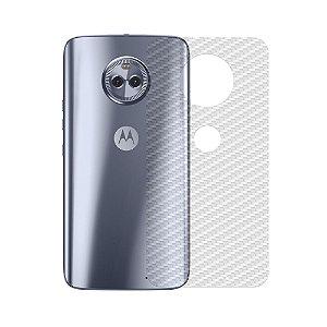 Película Traseira de Fibra de Carbono Transparente para Motorola Moto X4 - Gshield
