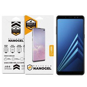 Película Nano Gel Dupla para  Samsung Galaxy A8 Plus – Gshield (COBRE TODA TELA)