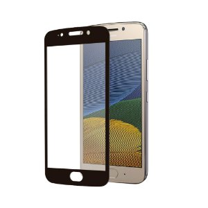 Película Coverage Color para Motorola Moto G5 - Preta - Gshield (COBRE TODA TELA)