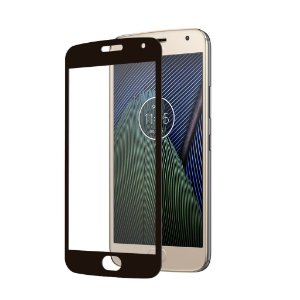 Película Coverage 5D Pro Preta para Motorola Moto G5 Plus - Gshield (COBRE TODA TELA)