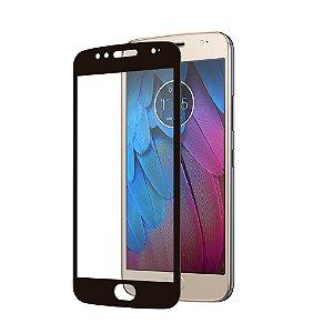 Película Coverage Color para Motorola Moto G5S - Preta - Gshield (COBRE TODA TELA)