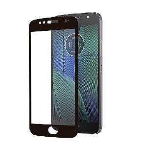 Película Coverage 5D Pro Preta para Motorola Moto G5S Plus - Gshield (COBRE TODA TELA)