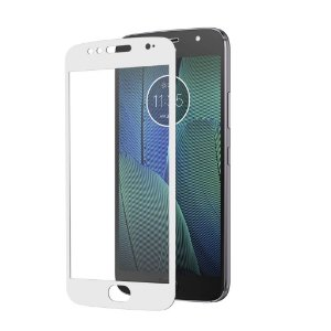 Película Coverage Color para Motorola Moto G5S Plus - Branca - Gshield