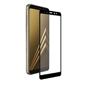 Película Coverage Color para Samsung Galaxy A8 - Preta - Gshield (COBRE TODA TELA)