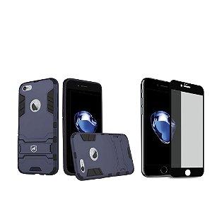 Kit Capa Armor e Película Coverage Preta para iPhone 7 - Gshield