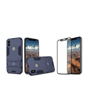 Kit Capa Armor e Película Coverage Preta para iPhone X e XS - Gorila Shield