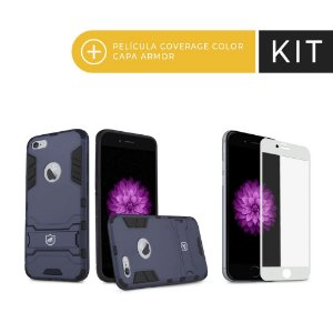 Kit Capa Armor e Película Coverage Branca para iPhone 6S - Gorila Shield