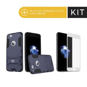 Kit Capa Armor e Película Coverage Branca para iPhone 7 - Gorila Shield