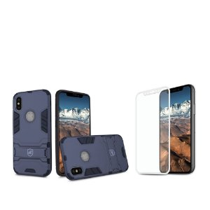 Kit Capa Armor e Película Coverage Branca para iPhone X e XS - Gshield