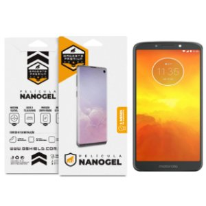 Película Nano Gel Dupla Para Motorola Moto E5 - Gshield (Cobre Toda Tela)