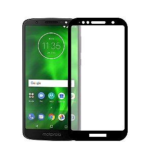 Película Coverage Color para Motorola Moto G6 Play - Preta - Gshield (Cobre toda tela)