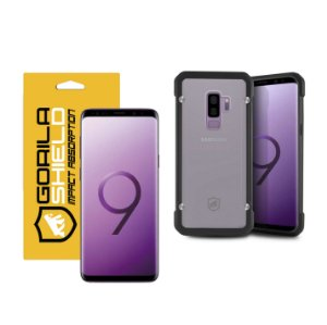 KIT CAPA GRIP SHIELD E PELÍCULA NANO GEL DUPLA PARA GALAXY S9 PLUS - GORILA SHIELD