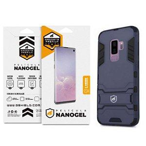 Kit Capa Armor e Película Nano Gel Dupla para Galaxy S9 Plus - Gshield