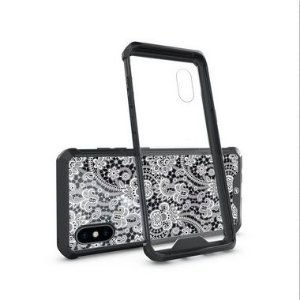 Capa Ultra Slim Preta Rendada para iPhone X e iPhone XS - Gshield