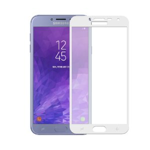 Película Coverage Color para Galaxy J4 - Branca - Gorila Shield
