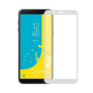 Película de Vidro Coverage Color para Galaxy J6 - Branca - Gorila Shield