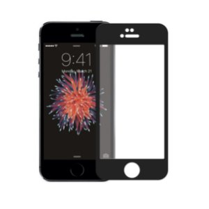 Película Coverage Color para Iphone 5, 5s e SE - Preta - Gshield
