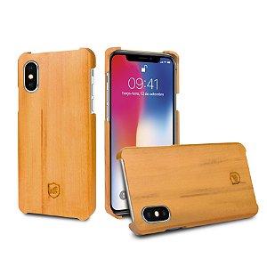 Capa de Madeira Peroba Clara para Iphone X e Iphone XS - Gorila Shield