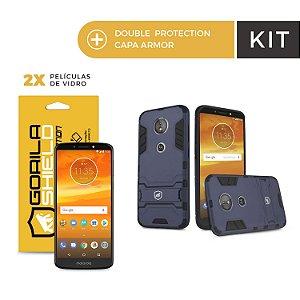 Kit Capa Armor e Película de Vidro Dupla para Motorola E5 - Gorila Shield