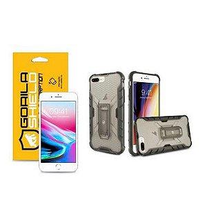 Kit Capa Plasma e Película de Vidro Dupla para Iphone 8 Plus - Gorila Shield